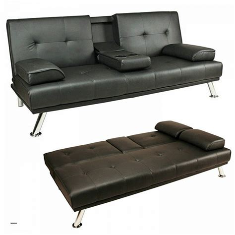 leather click clack sofa bed faux leather double sofa bed sienna black faux leather