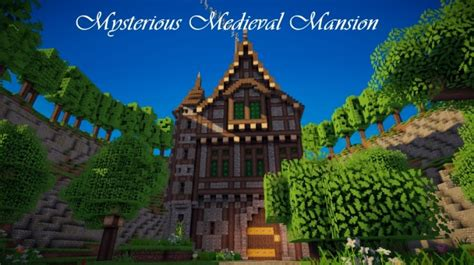 mysterious medieval mansion minecraft house design