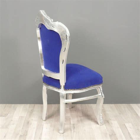 chaise bleue chaise baroque bleue chaises baroques