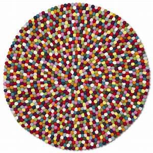 tapis multicolore pinocchio en billes de laine hay With tapis pinocchio hay