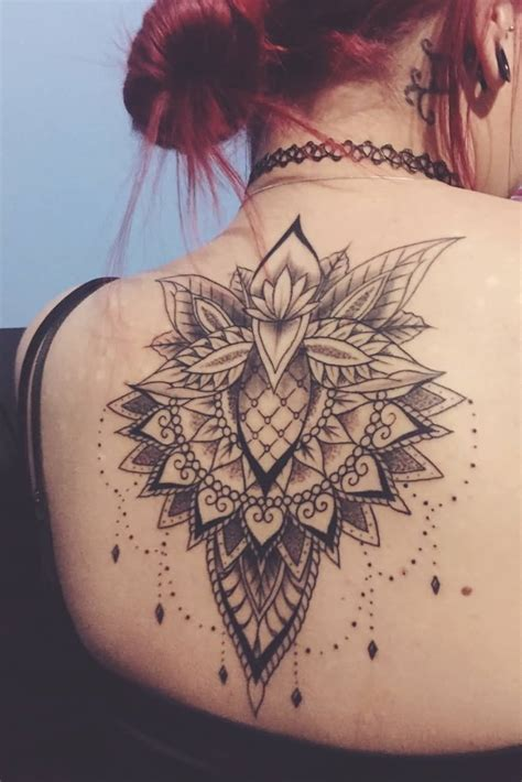 upper  nice mandala tattoo  lotus  girl