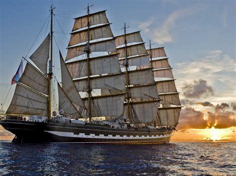 Boat Kept On A Larger Ship sailing ship