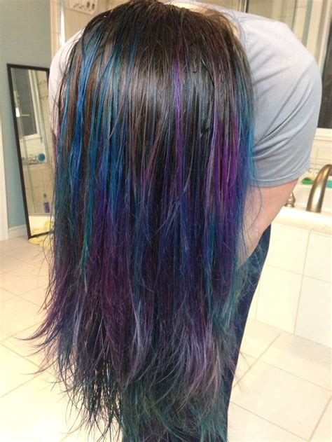 Brunette Hair Purple And Blue And Dip Dye On Pinterest