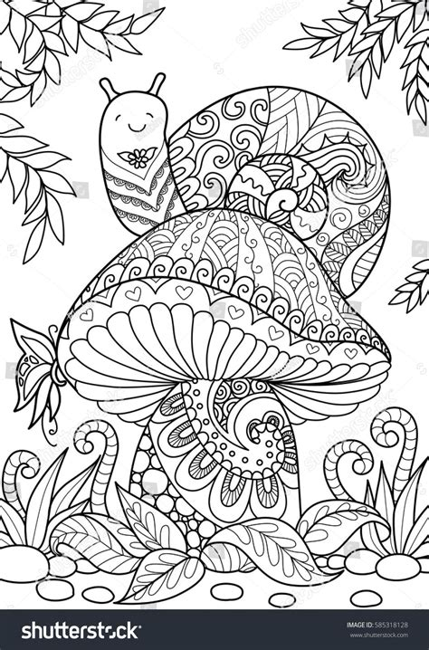 snail sitting  beautiful mushroom   shirt design
