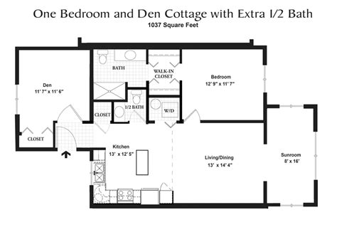 2 bedroom 1 bath foxdale cottage homes 13924 | cottage 1br2ba den