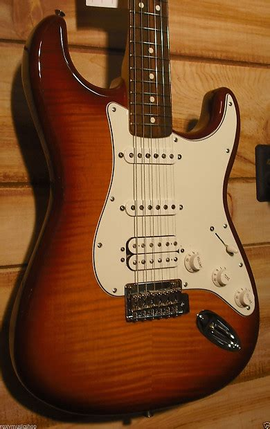 fender 174 deluxe stratocaster 174 plus top hss with ios tobacco