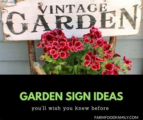creative funny garden sign ideas