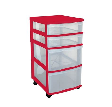 Office Drawers On Wheels by Clear Floor Storage 4 Drawers W Wheels Assorted