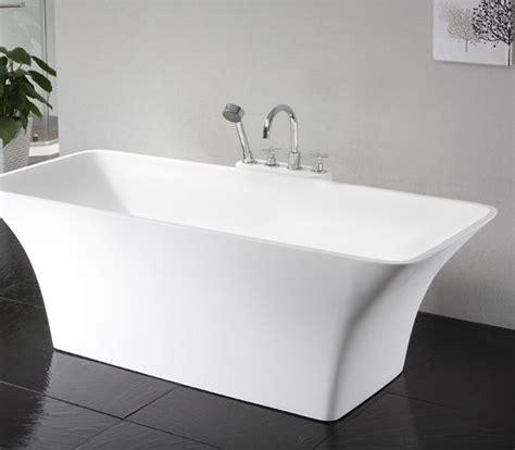 Glanzend Luxusbad Whirlpool 0901 Freistehende Design Badewanne Aus Mineralguss
