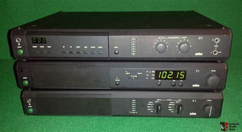 braun atelier  amplifier  tuner  tape deck stereo