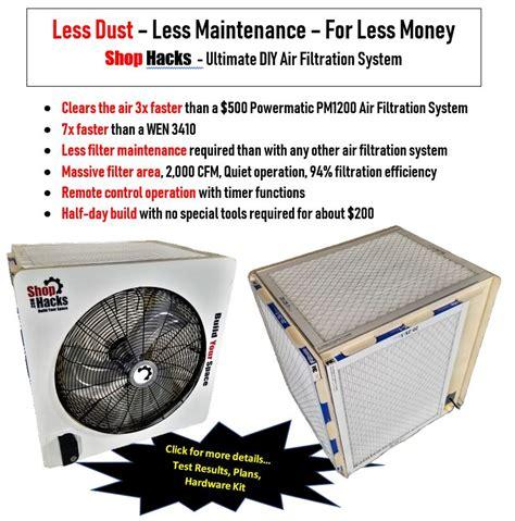 air filtration system shootout    shop hacks