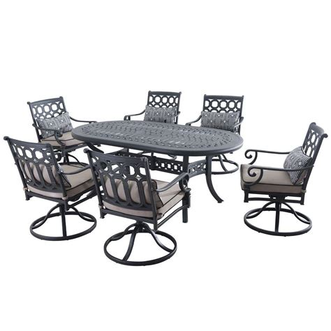 sunjoy catelynn 7 patio dining set with beige