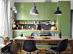 Salon Vert D Eau : cuisine couleur vert d 39 eau ~ Zukunftsfamilie.com Idées de Décoration