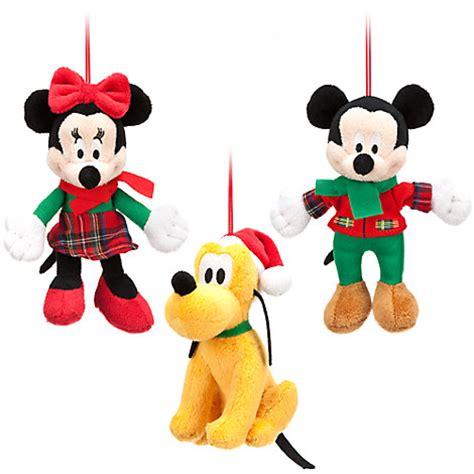 disney store mickey minnie pluto plush christmas holiday