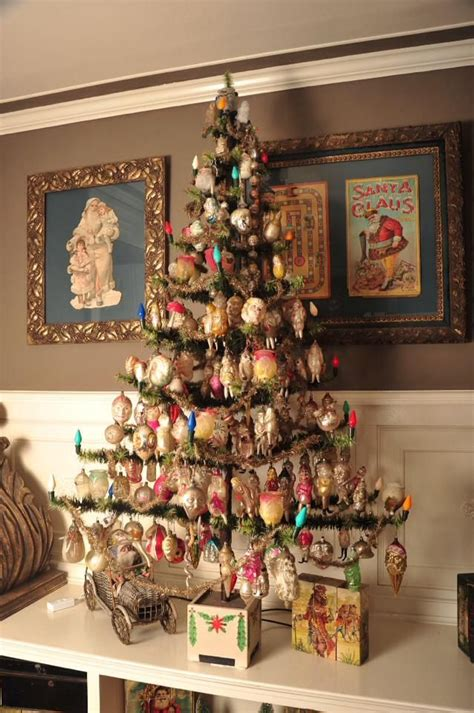 collectionof bestpictures of christmas beautifully decorated feather tree with lights great vintage images in frames