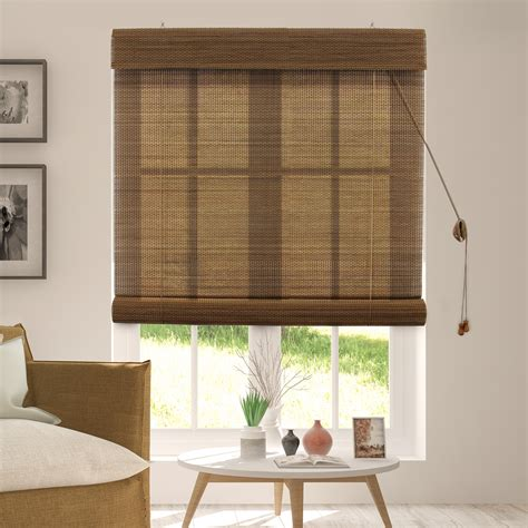 Roll Up Window Blinds by Chicology Bamboo Roll Up Blinds Woven Wood Window Blind