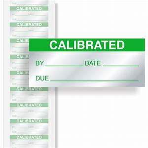 calibration sticker With instrument calibration stickers