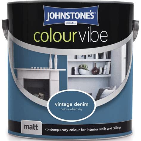 johnstones vintage denim colour vibe emulsion paint