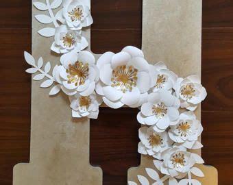 decorative paper flower letter etsy paper flower letters paper flower decor paper flowers