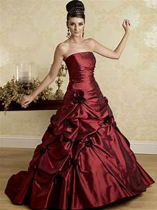 burgundy gown dressed up girl With burgundy wedding dresses