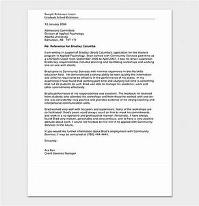 Sample Letter Of Recommendation For Masters Program From Employer Reference Letter Template 50 For Word Pdf Format