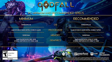 Godfall recommended PC hardware specs have been revealed