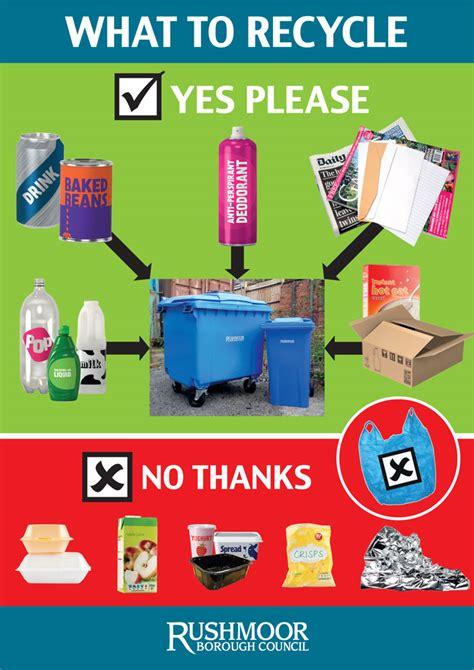 put   blue recycling bin rushmoor borough