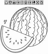 Watermelon Coloring Pages Fruit Sheets Drawing Colorings Printable Fresh Coloringpagesfortoddlers Fruits Summer Colored Getdrawings sketch template