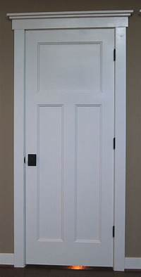 door trim styles Craftsman style interior doors, stained wood instead, with ...