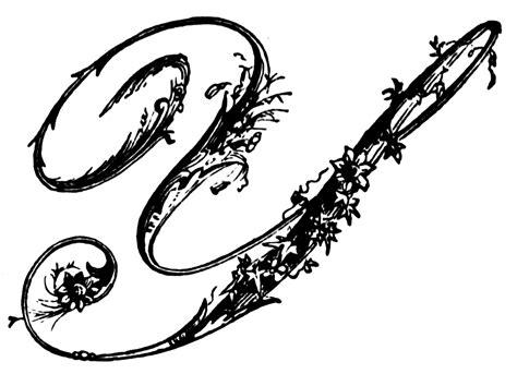 Y, Ornamental Script