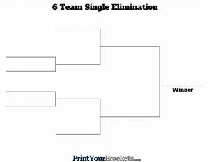 6 team single elimination printable tournament bracket With 6 team draw template