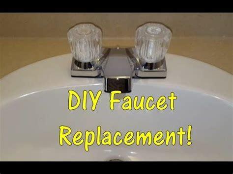 diy   replace  bathroom sink faucet remove