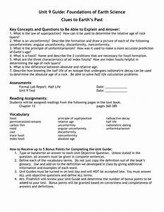 Unit 9 Guide  Foundations Of Earth Science Clues To Earth