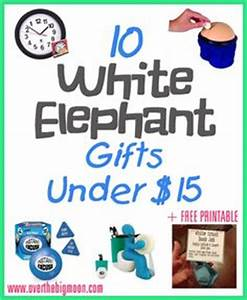 10 Fun White Elephant Gifts Under fifteen dollars a free