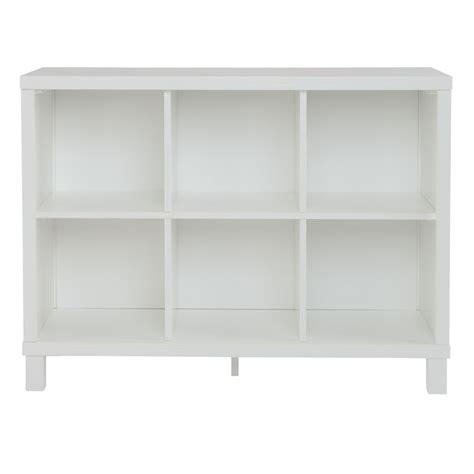 Wide White Bookcase by Cubic Wide Bookcase 6 Cube The Land Of Nod