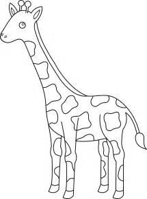Cartoon Giraffe Clip Art Black and White