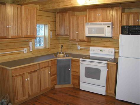 Small Log Cabin Kitchen Ideas by Small Mountain Cabin Kitchens