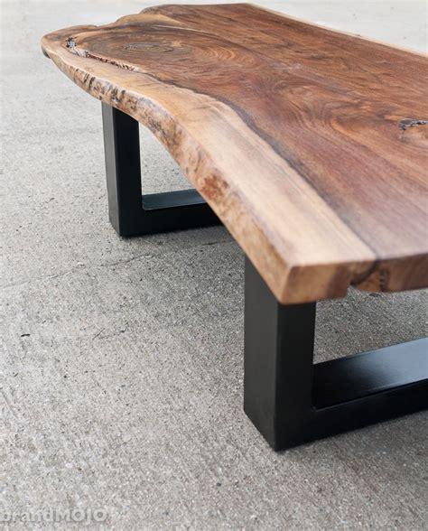 steel base coffee table  edge bench acero