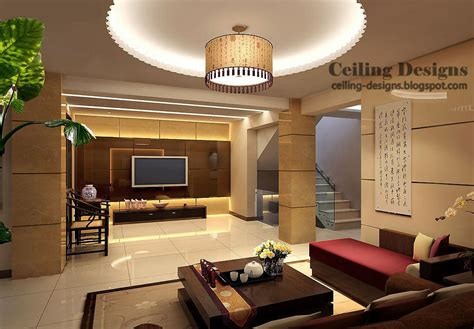 contemporary modern chandelier gypsum tray ceiling design with lighting for living