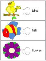 creation jigsaw word match worksheets