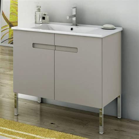 modern    york vanity set  ceramic sink