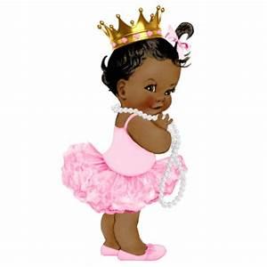 Ethnic Ballerina Tutu Princess Baby Girl Shower Statuette