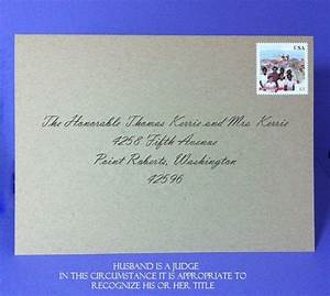 addressing save the dates husband is a judge1 52116 With wedding invitation etiquette for unmarried couples