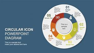 5 Step Creative Circular Diagram Design For Powerpoint