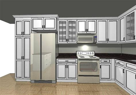 Custom Kitchen Cabinetry 3d Rendering Cabinets Design