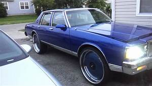 83 Box Chevy Caprice Squatting On 26in Dubs