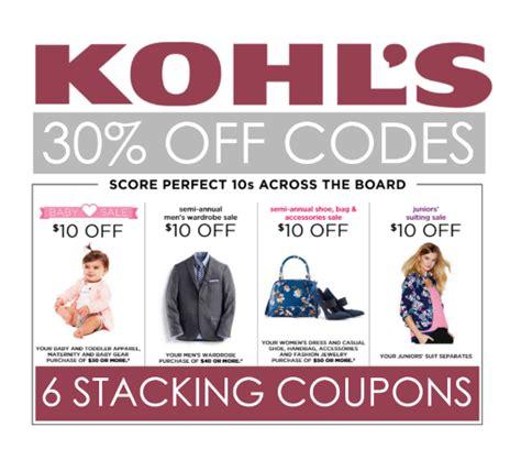 coupon code  kohls stacking coupons