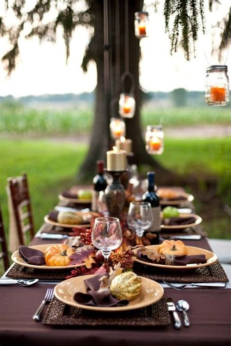 thanksgiving outdoor table decorations 30 natural thanksgiving decor ideas
