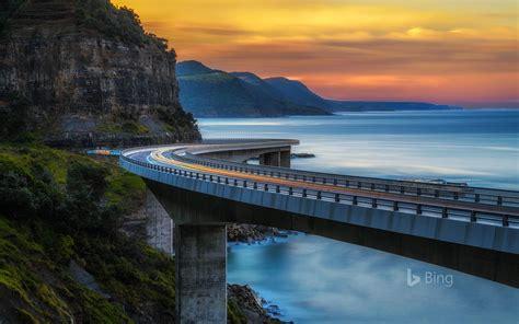 Sea Cliff Bridge Bing Wallpaper 42982005 Fanpop