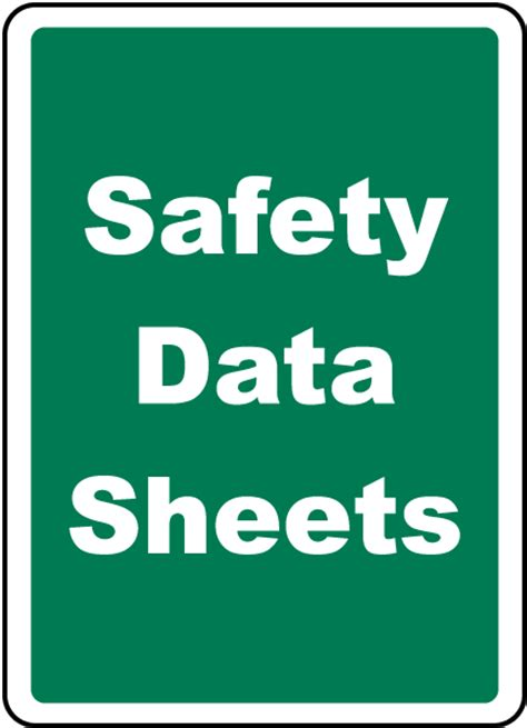 safety data sheets safety data sheets sign h1673 by safetysign com